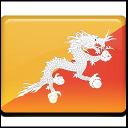 不丹国旗图标 所有国家的国旗 高清图片
