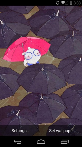扑克兔之下雨天-梦象动态壁纸