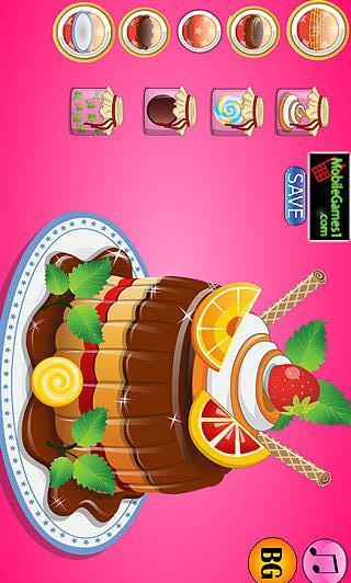 蛋糕装饰设计游戏