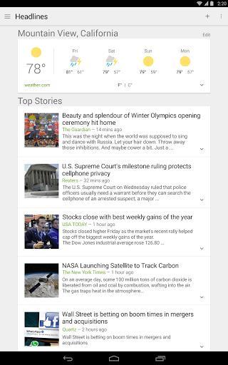 谷歌新闻和天气-应用截图