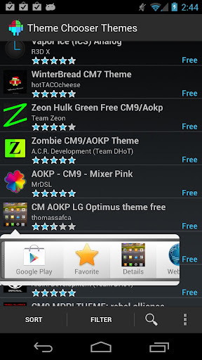 Theme Chooser Themes