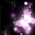 非主流梦幻蝴蝶紫色唯美密码锁屏