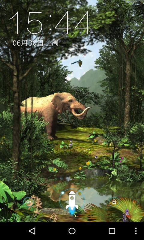 3D热带原始森林-梦象动态壁纸-应用截图