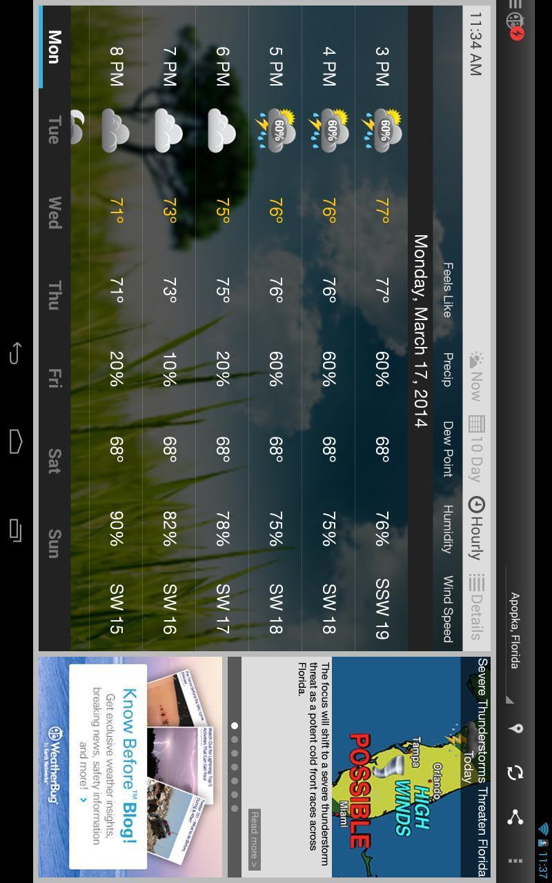 玩免費個人化APP|下載天气预报WeatherBug app不用錢|硬是要APP