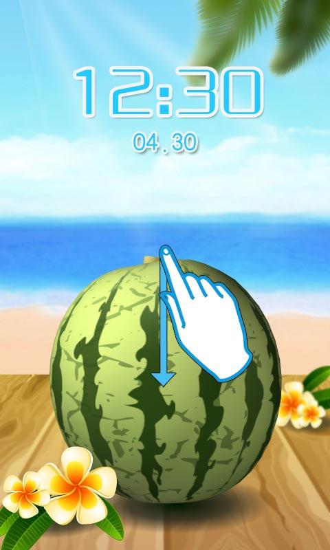 【免費個人化App】切西瓜创意游戏主题锁屏-APP點子
