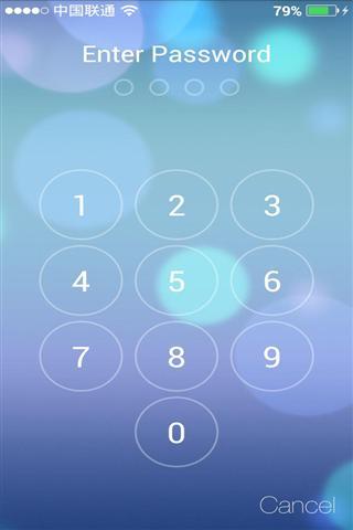 ios7锁屏-应用截图图片
